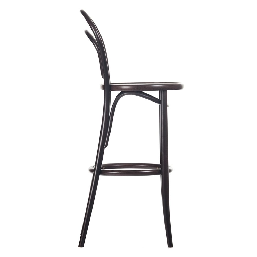 Design stool in wengè dyed beech wood, tall