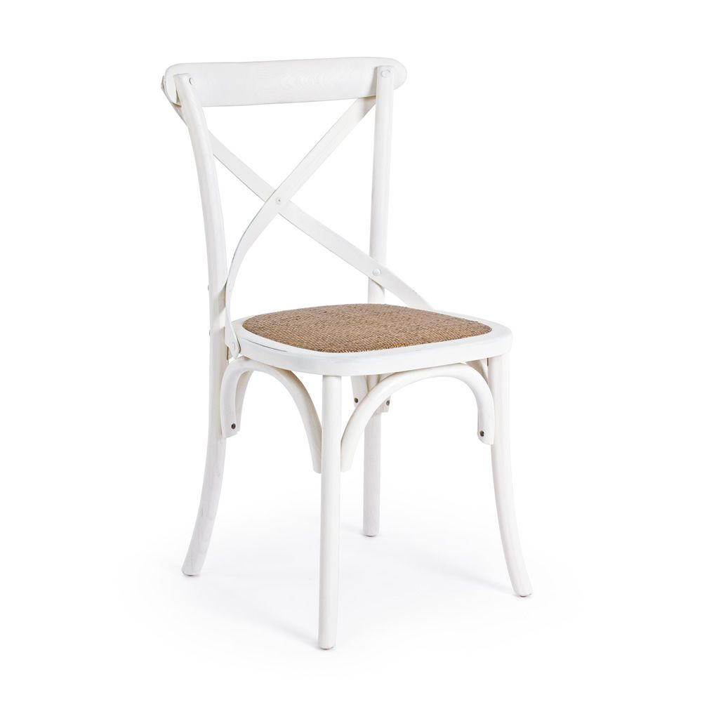 Shabby chic chair in white colour