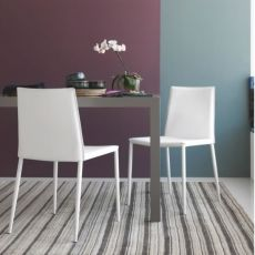CB1392 Boheme - Calligaris chair made of metal and leather
