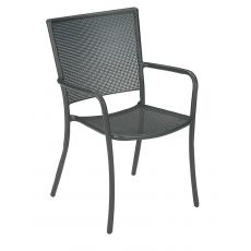 Athena 3413 - Emu armchair made of metal, for garden, stackable