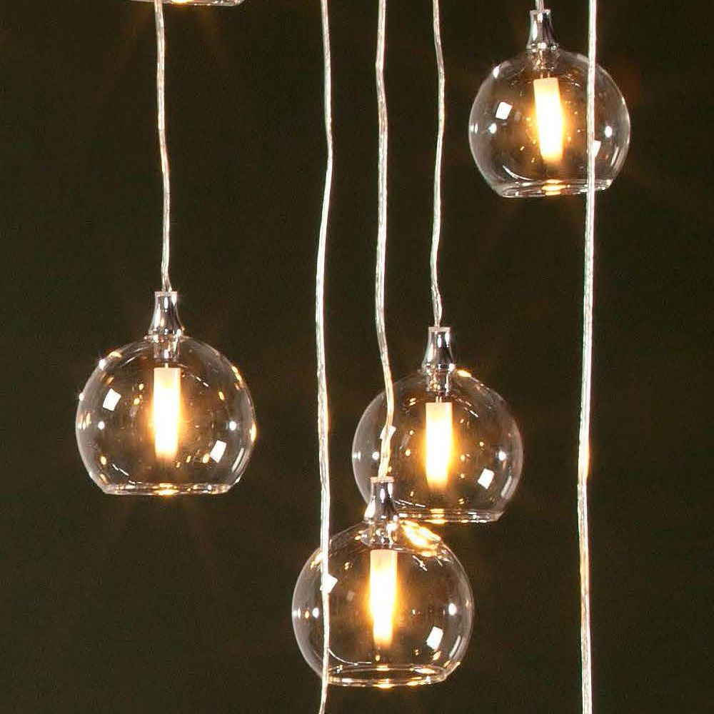 Suspension lamp in glass, detail