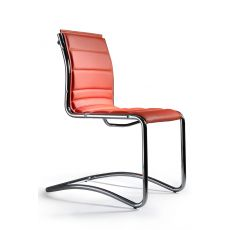 Comet Host - Visitor chair for executive office, with or without armrests, available in fabric, leather or imitation leather