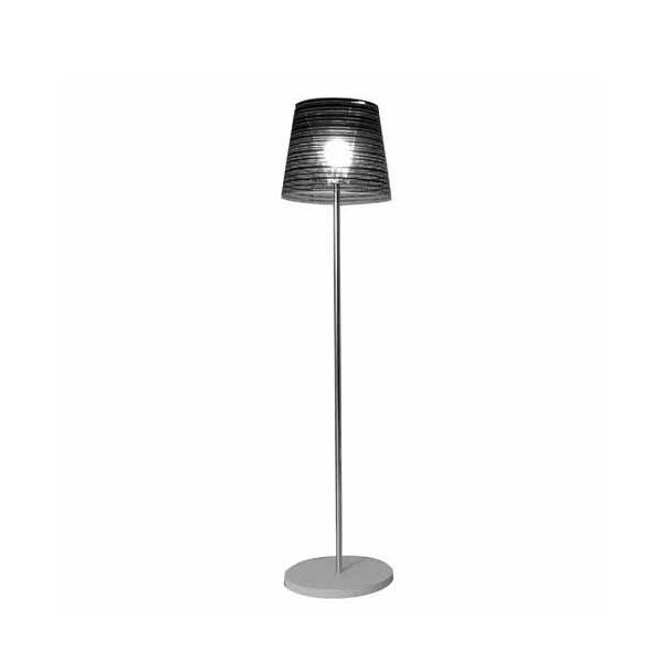 Floor lamp in poycarbonate, black decoration