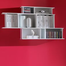 Demie - Modular wall bookcase in wood, available in several colours