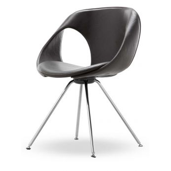Up Chair Leather - Silla moderna de metal y piel de Tonon