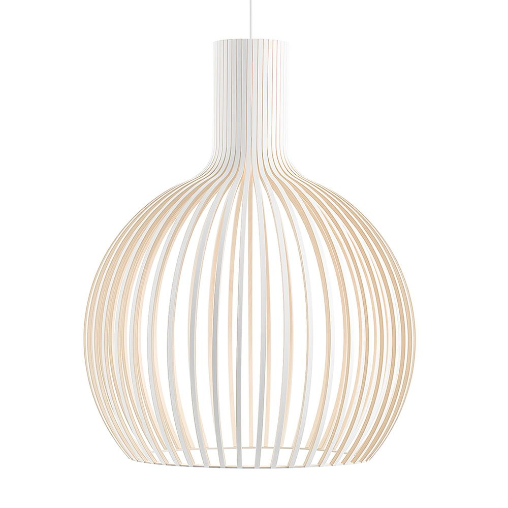 Octo 4240-4241 Veneered structure White lacquered Size Medium