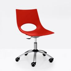 CB1252 Congress - Connubia - Calligaris chair, made of metal and polypropylene, swivel and adjustable in height