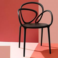 Loop Chair - Qeeboo design chair, in polypropylene, stackable, also for garden