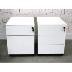 Cassettiera Metal - Office chest of drawers made of metal, equipped with wheels, with two or three drawers