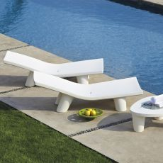 Low Lita Lounge - Chaise longue Slide in polietilene, per giardino