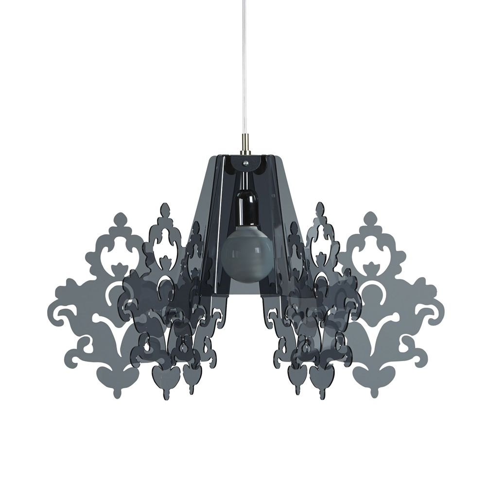 Suspension lamp in methacrylate - smoked grey