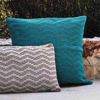 Wave Pillows M - Turquoise outdoor cushion, size M
