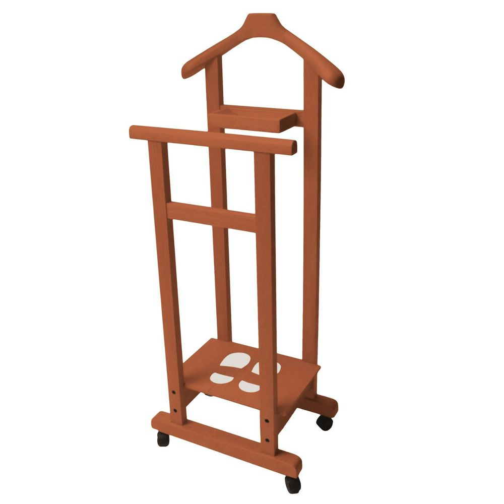 Valet Stand made of solid beech wood with cherry finish