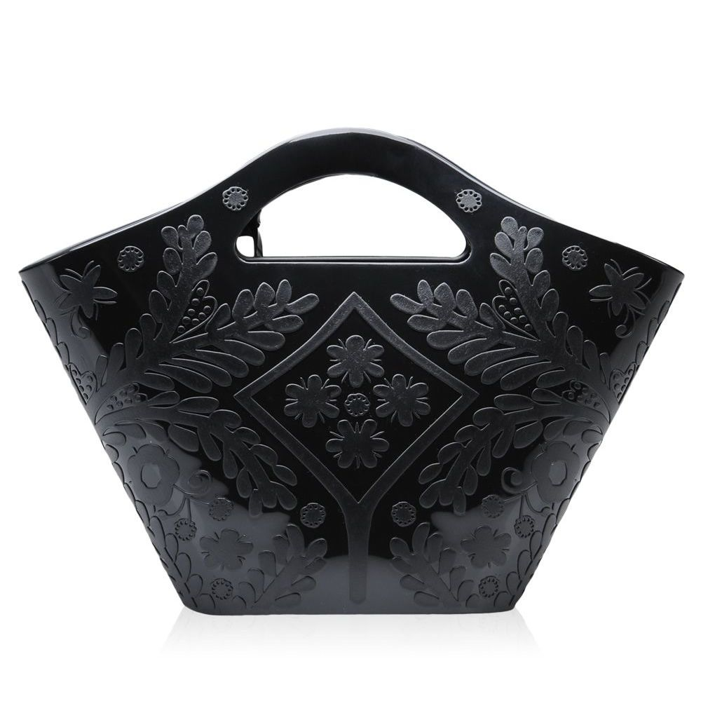 Handbag polymer, with embossed damask pattern