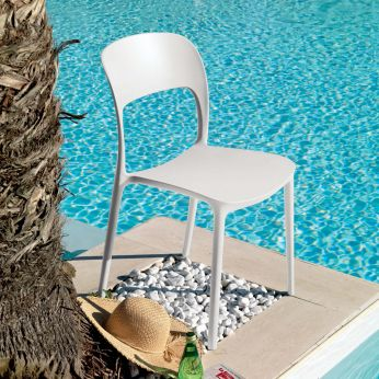 Gipsy - Chair in white plastic
