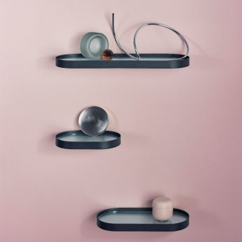 Ovals - Shelf in metal and glass, different dimensions available