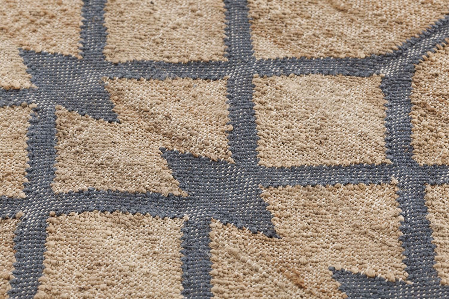 Detail of the rug in blue colour
