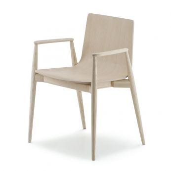MALMÖ 395 - Design chair in whitened ash wood