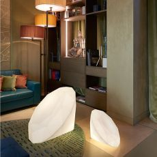 Bijoux - Slide polyethylene floor lamp, different sizes, also for garden