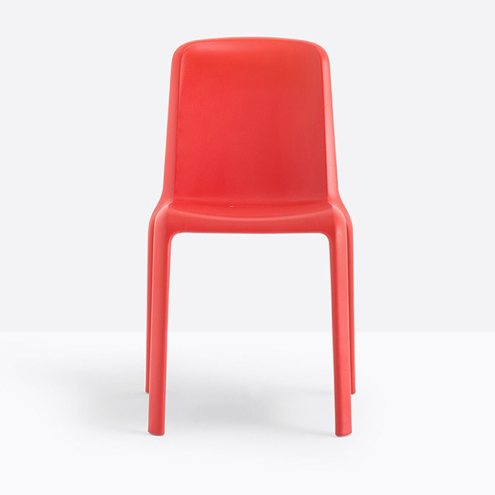 Stackable polypropylene chair, red colour