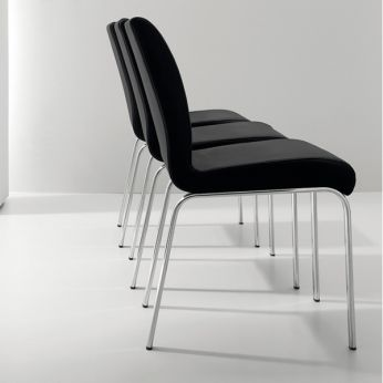 Stone - Metal chairs, with leather, imitation leather or fabric covering