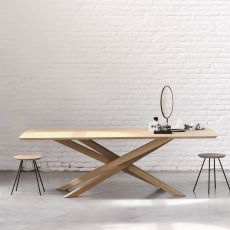 Mikado - Ethnicraft fixed table made of wood, different sizes available