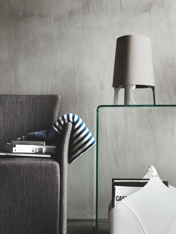 Table lamp by Calligaris, dove grey colour