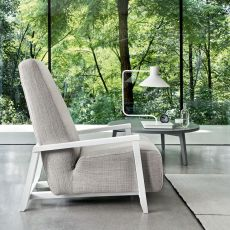 Sweet 20 - Gervasoni armchair in wood, different coverings available, removable covering