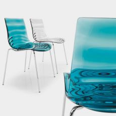 CB1273 L'Eau - Bar Chair made of metal and technopolymer, several colours available, also stackable