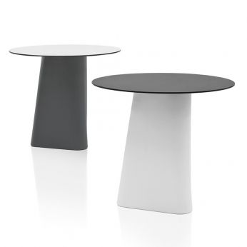 Adam 80 - Outdoor table, with structure in polyethylene and laminate top
