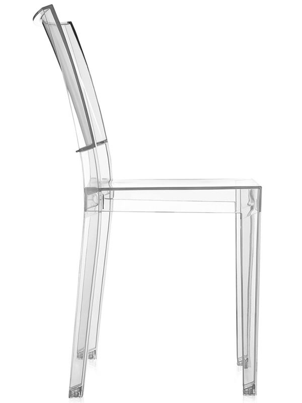Kartell design chair in transparent polycarbonate
