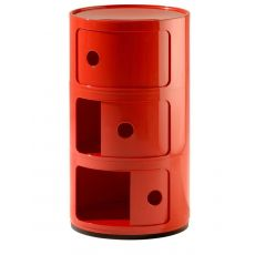 Componibili 4967 - Design Kartell container, in ABS, equipped with three sliding doors, also for outdoor