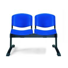 ML100 Panca P - Bench for waiting room, in metal with seats in plastic, different number of seats