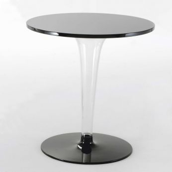 TopTop Round - Kartell side table with black top
