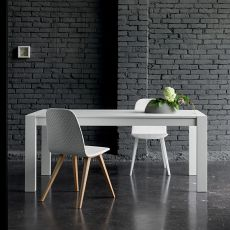 Rubino - Dall'Agnese extendable table made of veneered wood, different colours and sizes available