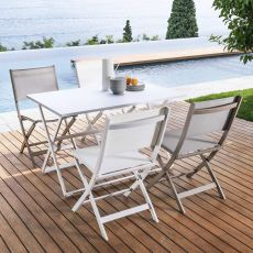 Queen - T - Folding table in aluminium, available in different sizes