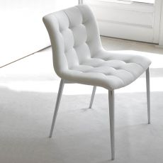 Kuga metal - Upholstered chair by Bontempi Casa, in metal, available with different coverings