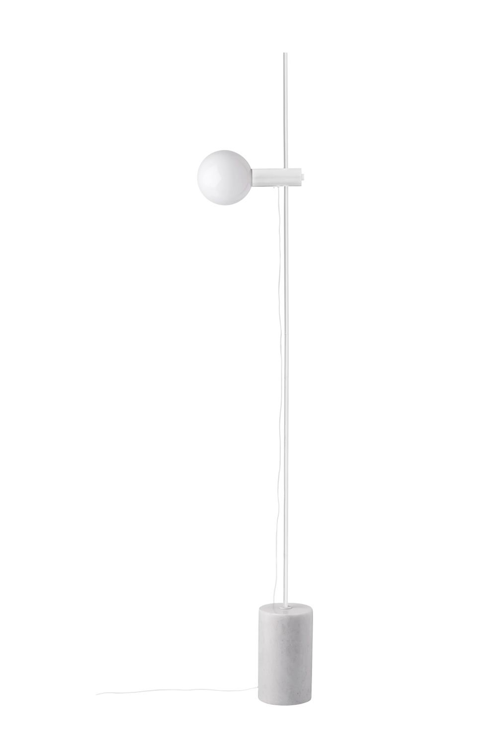 Floor lamp in marble and metal, white colour