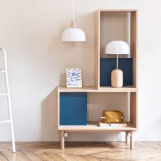 Edgar - Modular design bookcase, in wood and MDF
