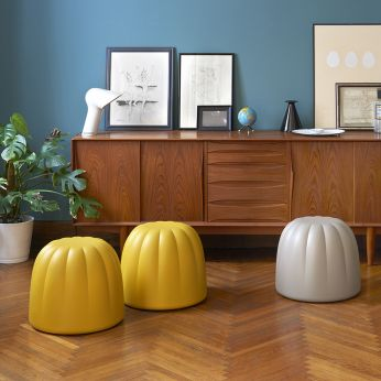 Gelée - Design pouf made of soft polyurethane, different colours available (size: S - diameter 48 cm)