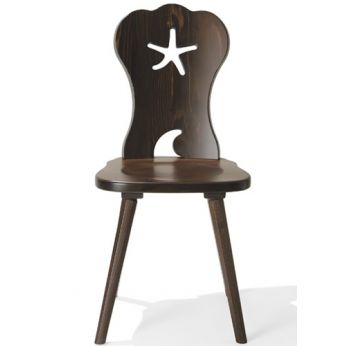 TC10 - Wooden chair, walnut color