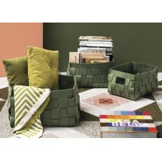 7153 Alvin - Set Calligaris storage holders, in green felt