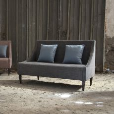 Sikka L - Modern sofa Domingo Salotti, with wooden legs, available in fabric, leather or imitation leather, different colors