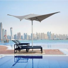 OMB50 - Design parasol with central pole in aluminium, square, available in different dimensions