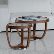 Time Small - Coffee table by Tonon with glass round top, several sizes