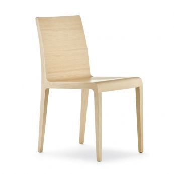 Young 420 - Design chair made of bleached oak wood