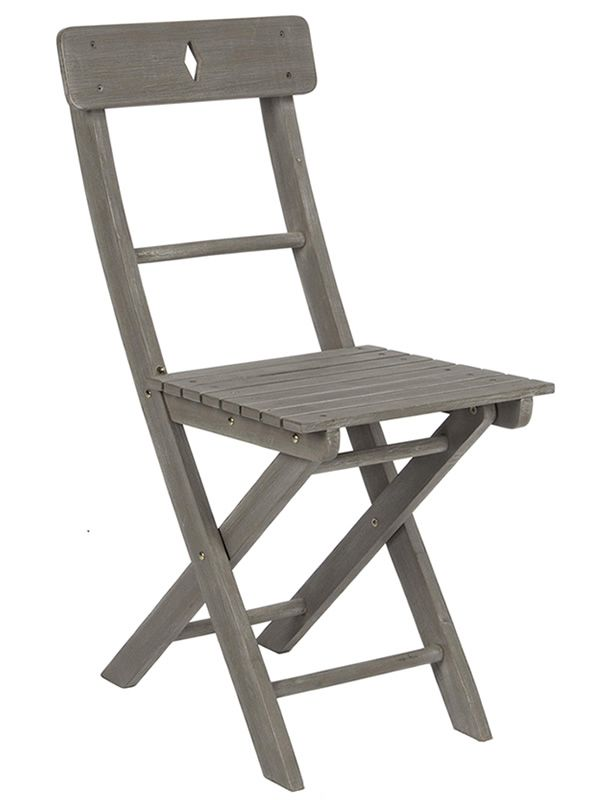 Wooden chair in grey colour