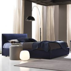 Gaya New - Padded double bed, several coverings available, removable covering, also with storage box