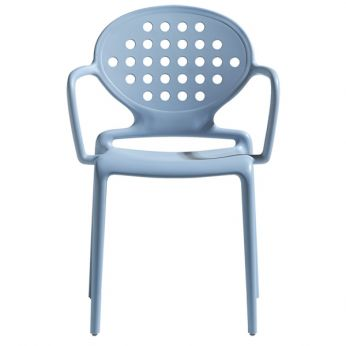 Colette P 2284 - Modern armchair in light blue colour