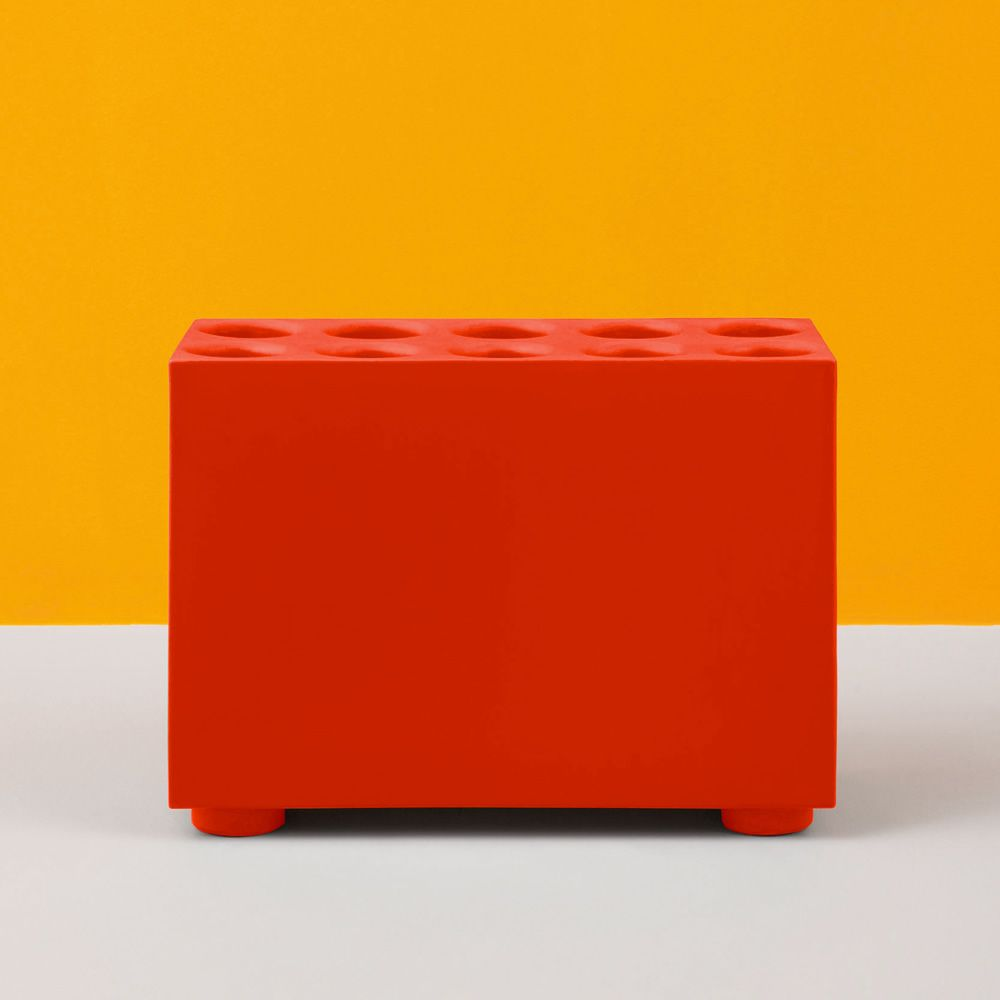 Brick Polypropylene seat Orange red Size Large. Express Delivery